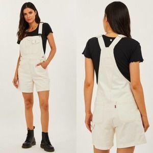 LEVI'S Vintage Utility Denim Overall Shorts NWT M